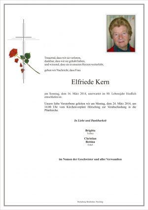 Portrait von Elfriede Kern