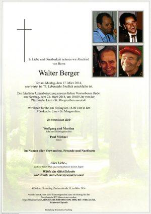 Portrait von Walter Berger