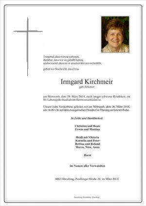 Portrait von Irmgard Kirchmeir