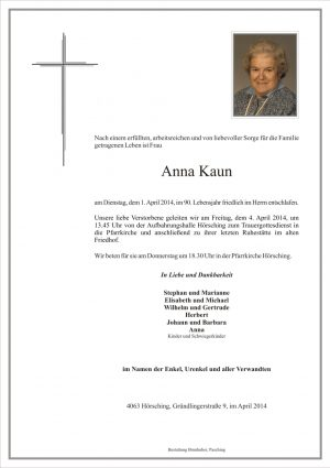 Portrait von Anna Kaun