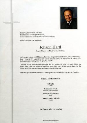 Portrait von Johann Hartl