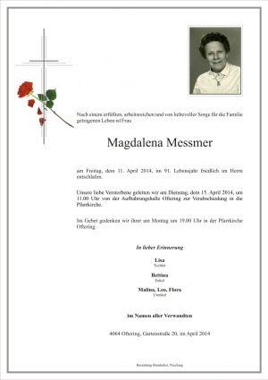 Portrait von Magdalena Messmer