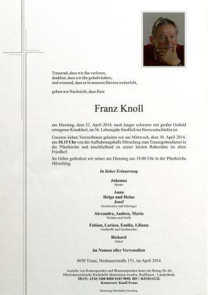 Portrait von Franz Knoll