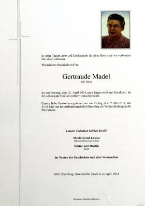 Portrait von Gertraude Madel