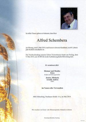 Portrait von Alfred Schembera
