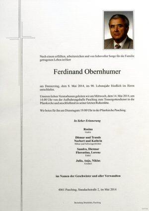 Portrait von Ferdinand Obernhumer