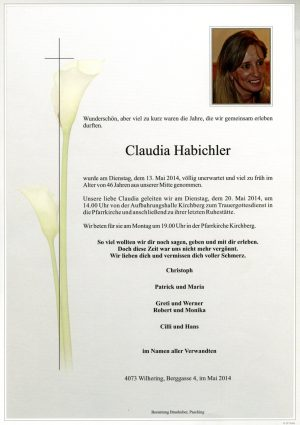 Portrait von Claudia Habichler