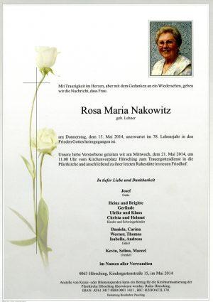 Portrait von Rosa Maria Nakowitz