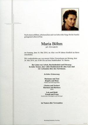 Portrait von Maria Böhm