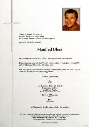 Portrait von Manfred Blees