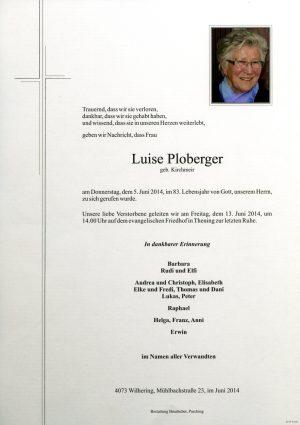 Portrait von Luise Ploberger