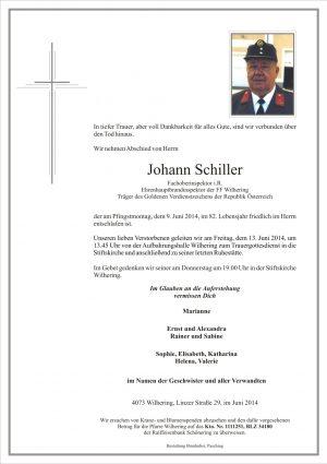 Portrait von Johann Schiller