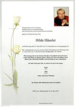 Portrait von Hilde Häusler