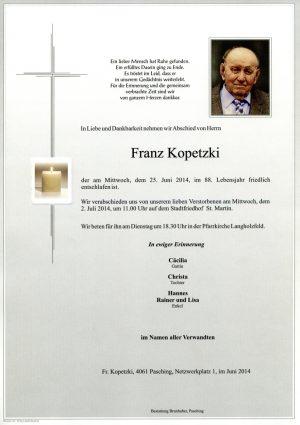 Portrait von Franz Kopetzki