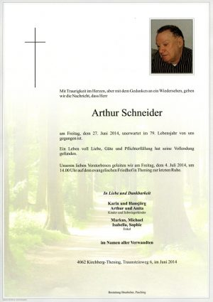 Portrait von Arthur Schneider