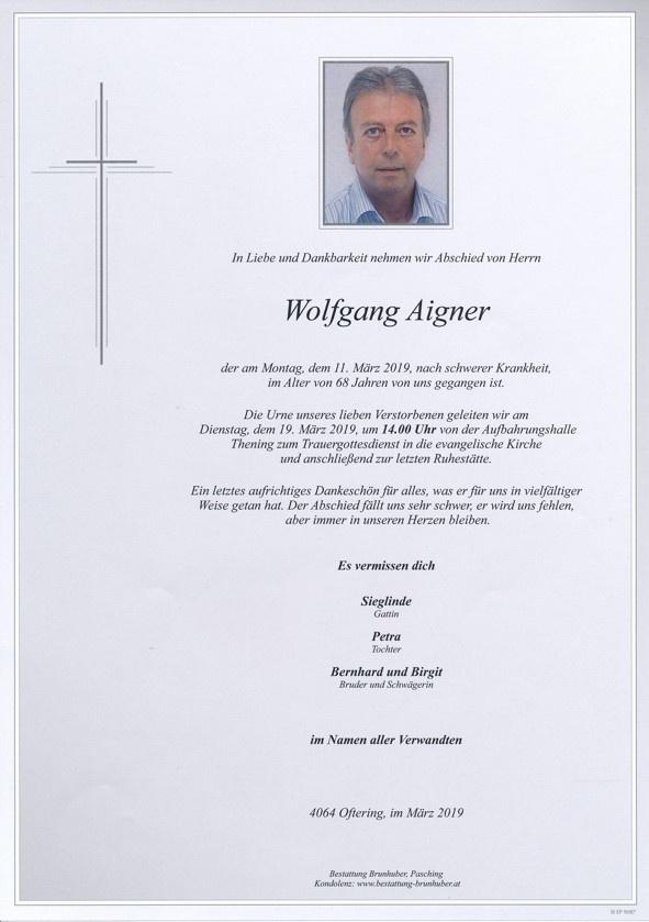 esclavo consumidor nuez  Portrait Wolfgang Aigner • Bestattung Brunhuber