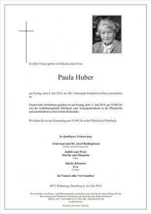 Portrait von Paula Huber