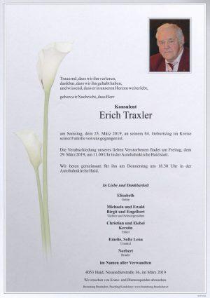 Portrait von Erich Traxler