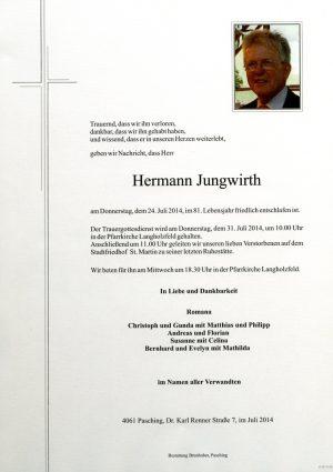 Portrait von Hermann Jungwirth
