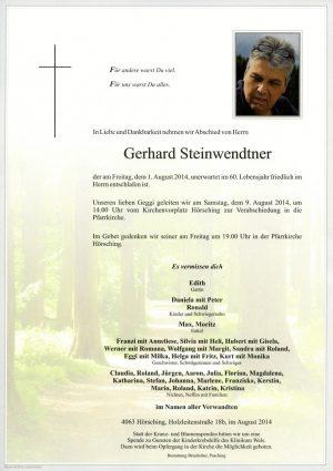 Portrait von Gerhard Steinwendtner
