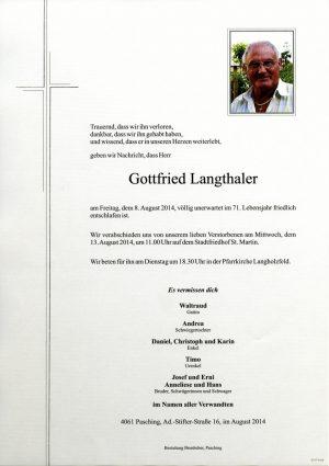 Portrait von Gottfried Langthaler