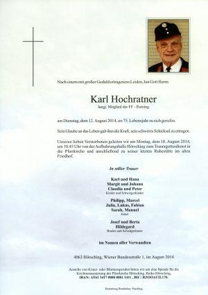 Portrait von Karl Hochratner