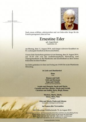 Portrait von Ernestine Eder