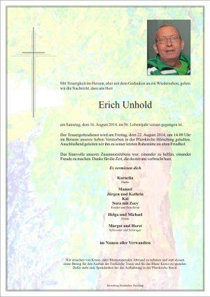 Portrait von Erich Unhold