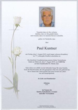 Portrait von Paul Kuntner