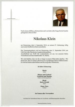 Portrait von Nikolaus Klein