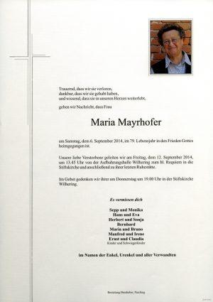 Portrait von Maria Mayrhofer