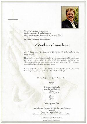 Portrait von Günther Ernecker