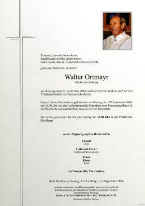 Portrait von Walter Ortmayr