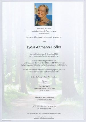 Portrait von Lydia Altmann-Höfler