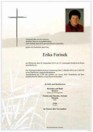 Portrait von Erika Forinek
