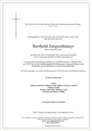 Portrait von Berthold Jungreithmayr