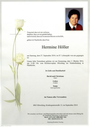 Portrait von Hermine Höller