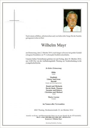 Portrait von Wilhelm Mayr