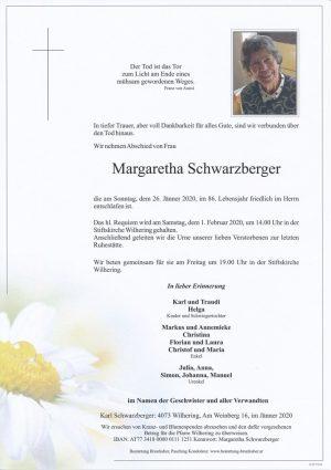 Portrait von Margaretha Schwarzberger