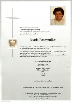 Portrait von Maria Petermüller