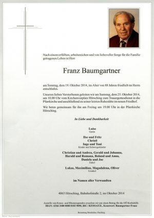 Portrait von Fritz Baumgartner