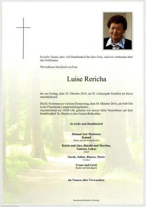 Portrait von Luise Rericha