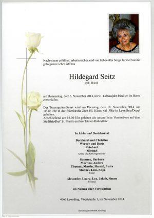 Portrait von Seitz Hildegard